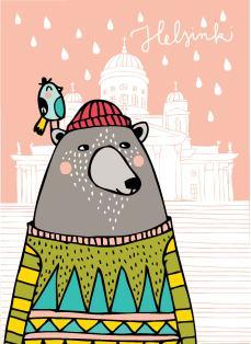 Helsinki postcard for Putinki.