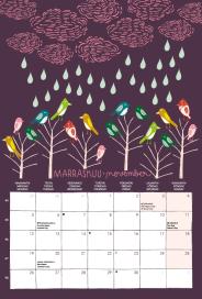November, wall calendar 2018
