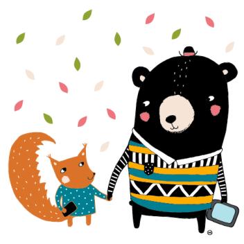kesäpäivät- karhu ja orava-01