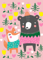 ystävä - karhu ja kettu
